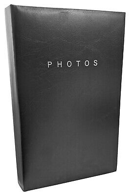 "1 x Black Flip Photo Album 16cm x 26cm holds 80 x 6"" x  4"" Family Photographs"
