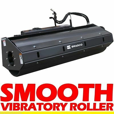 Vibratory Roller Attachment for Mini Skid Steer Loaders & ASV Terex RC30/PT30