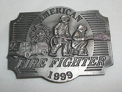 1999 American Fire Fighter Belt Buckle Siskiyou Limited Edition Fireman