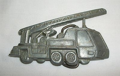 Vintage Fire Ladder Truck Engine Belt Buckle Fire Fighter Fireman