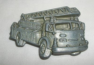 Vintage Firetruck Belt Buckle Fire Engine Truck Fireman Fire Fighter