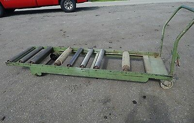 """4 Wheel Roller Conveyor Deck Cart 95"""" Inches x 25-1/2"""" (25.5) Inches with Brakes"""