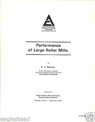Technical Paper - Allis-Chalmers - Cement Roller Mill Lime Technology (E1592)