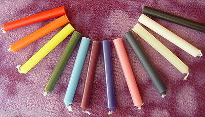 12 SPELL WORK CANDLES KIT Wicca Pagan Witch Reiki Altar Goth Punk Healing Herb