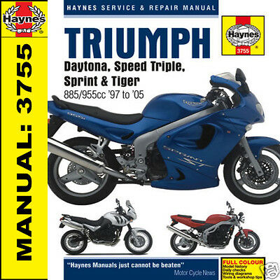 Triumph Daytona 955i Sprint Speed Triple Tiger T509 T595 Haynes Manual 3755 NEW