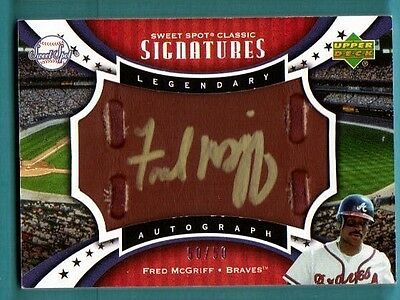 2007 Sweet Spot Classic Signatures Leather Fred McGriff Autograph Gold 50/50