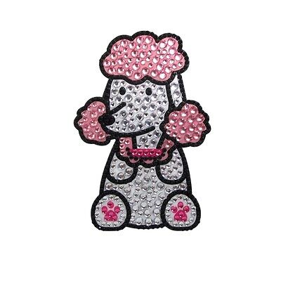 Poodle Dog Rhinestone Glitter Jewel Phone Ipod Iphone Sticker Decal