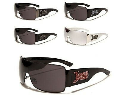 Locs Hardcore Shades Gangster Style One Piece Lens Sport Sunglasses Men Women.