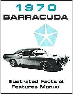 1970 70 Plymouth  Barracuda Facts Manual