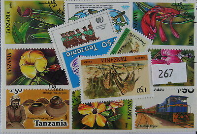 Tanzania. 25 stamps, all different (267)