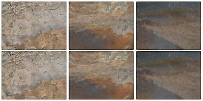 Pimpernel Earth Slate Effect Placemats Set of 6 Cork Backed Hardboard Table Mat