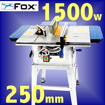 FOX F36-527 240v 250mm 10 Table Bench Circular Saw with Stand 3Yr Warranty