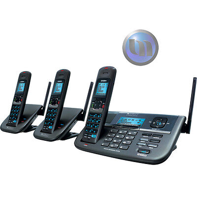 UNIDEN Xdect-R Long Range Cordless - Repeater Phone System With 2 Extra Handsets