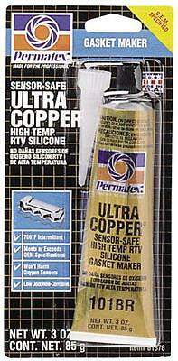 New Permatex 81878 3Oz Tube Ultra Copper High Temp Rtv Silicone Adhesive 6126940