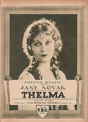 Jane Novak 1922 Ad- Thelma FBO  8 page Ad/Chester Bennett