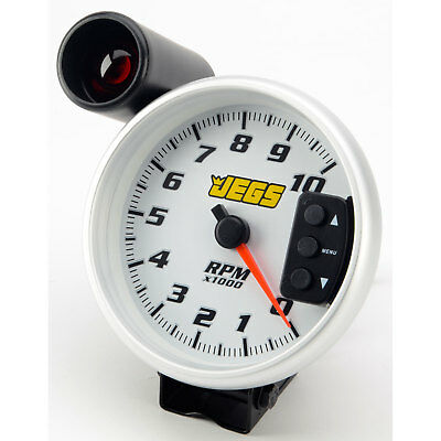 "JEGS Performance Products 41262 5"" Tachometer White 0-10,000 RPM"