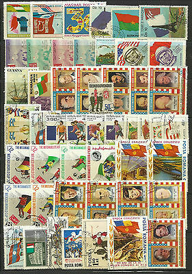 FLAGS Collection Packet of 50 Different WORLD Stamps
