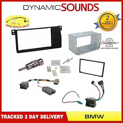 Double DIN Car Stereo Facia Fascia Fitting Kit For BMW 3 Series E46 (1998-2008)