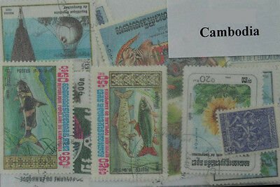 Cambodia. 40 stamps in packet. (ww105a)