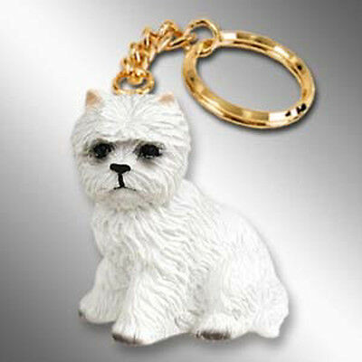 West Highland Terrier WESTIE Dog Tiny One Resin Keychain Key Chain Ring