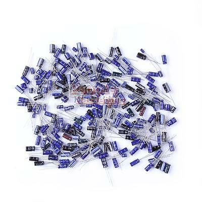P4PM 210Pcs 25 Value 0.1uF-220uF Electrolytic Capacitors Assortment Kit Set