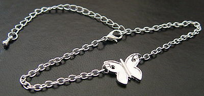 BUTTERFLY ANKLET Wicca Witch Pagan Belly Dance Goth Punk Hippie