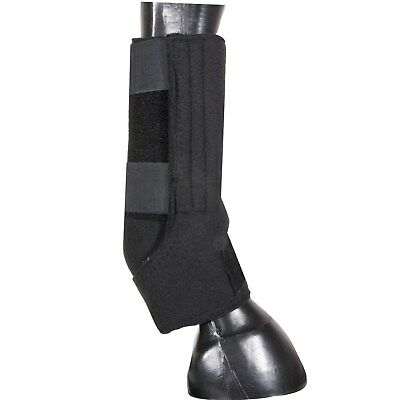 Horse Polo Leg Fast Wraps Boots Sport Black Large Tack Shipping Roping Wrap LG L