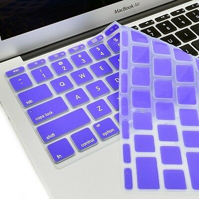 """NEW Dark Violet Silicone Keyboard Cover Skin for Macbook Air 11"""" Model A1465"""