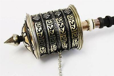 "F645 Very Artistic Tibetan Prayer Wheel ""Om Mane"" Hand Crafted in Nepal"
