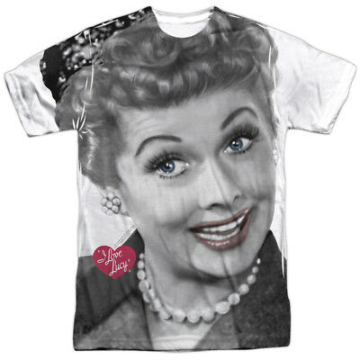 d8459891 Lucille Ball I Love Lucy Comedian Smiling Close Up Adult Front Print T-Shirt