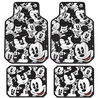 4 Pc Mickey Mouse Front & Rear Floor Mats Last Ones Cars Trucks Suvs Vans