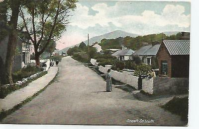 irish postcard ireland louth omeath village
