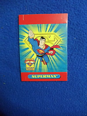~~ SUPERMAN ACTION PACKS PROMO CARD ~ 1996 ~~~~