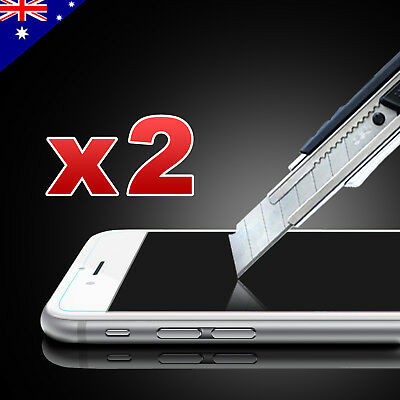 2x Scratch Resist Tempered Glass Screen Protector for Apple iPhone 8 7 6s 6