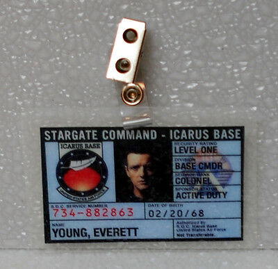 Stargate Universe ID Badge- Col Everett Young