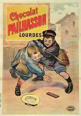 Metal Sign Chocolat Pailhasson 1 1910S French Lourdes Candy Children A3 16x12
