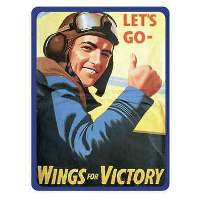 Metal Sign Wings For Victory A3 16x12 Aluminium