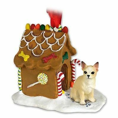 CHIHUAHUA Tan Dog Ginger Bread Gingerbread House Christmas Holiday ORNAMENT