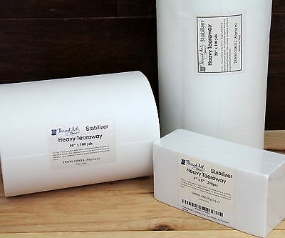Heavy Wt Tearaway Embroidery Machine Stabilizer Backing - Precut Sheets & Rolls