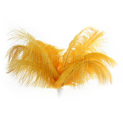 50Pcs Real Natural 10-12 inch Ostrich Feathers Orange Color Decorations