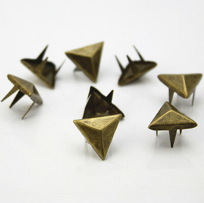50PC bronze triangle claw nail DIY accessories material package punk rivetsDIY C