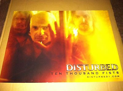 DISTURBED 2005 PROMO Retail POSTER for Ten thousand Fists CD USA MINT 18x24