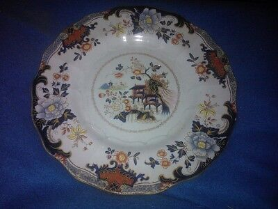 Victorian Staffordshire Plate, Improved Ironstone China.