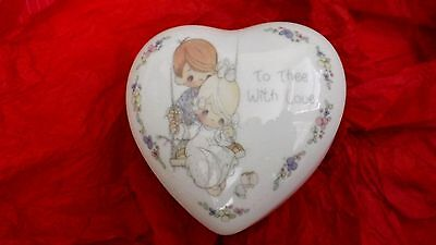 """Precious Moments  """" To Thee with Love """" Heart Music Box"""