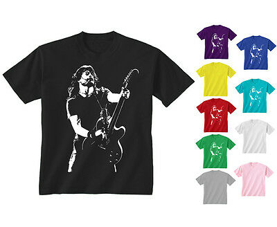 Kids Childrens Dave Grohl Foo Fighters Guitar Rock Icon T-shirt 5-13 Years