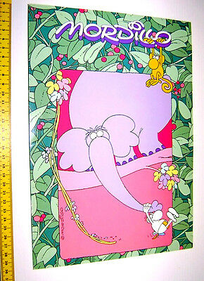 MORDILLO 1993 Mondadori italy maxi notebook 2 color - quablock 2 colori jungle