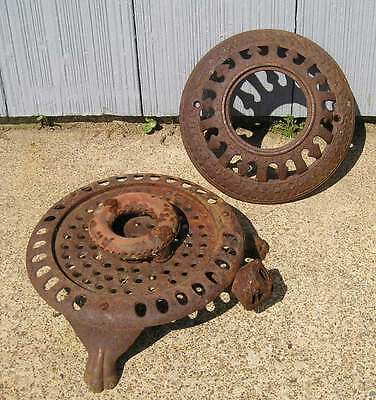 Antique Vintage ODIN Stove MFG Co Erie Pa Cast Iron Stove Parts Claw Foot OLD