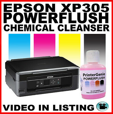 Epson Expression Home XP-305 Head Cleaner: Nozzle Cleanser  Printhead Unblocker