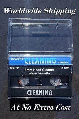 SONY V8-6CLD VIDEO 8 / Hi8 / DIGITAL 8 CAMCORDER HEAD CLEANING TAPE / CASSETTE