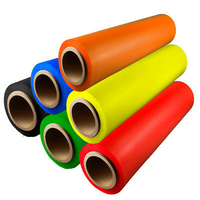 Hand Stretch Wrap Film Choose your Color, Roll, Size + Free Dispenser